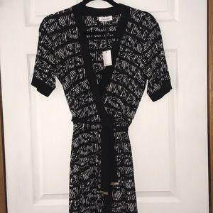 Calvin Klein Black&white V neck Dress Size M
